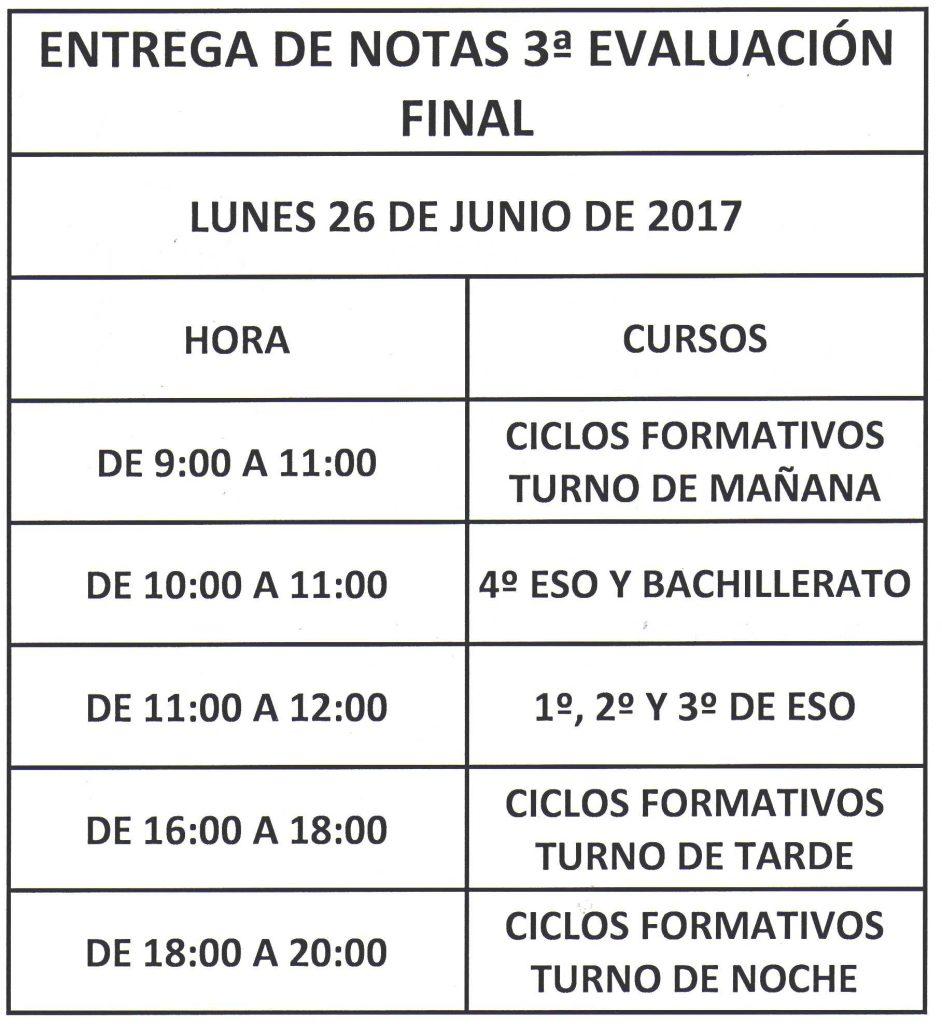 entrega nota eval 3 - junio 2017