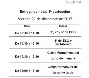 notas 1ª evaluación 2017-18